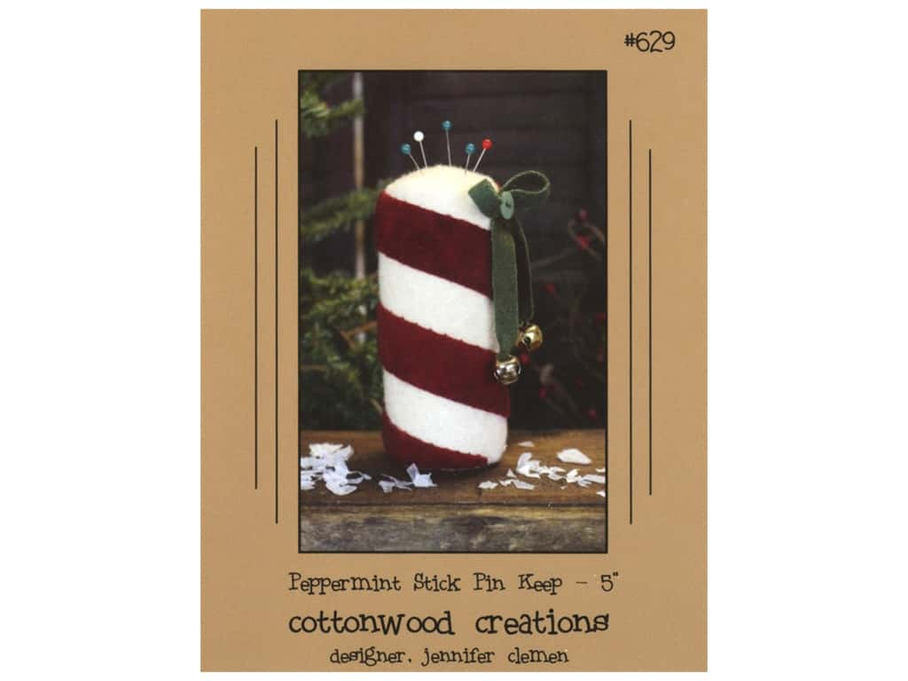 Cottonwood Creations Peppermint Stick Pin Keep Pattern