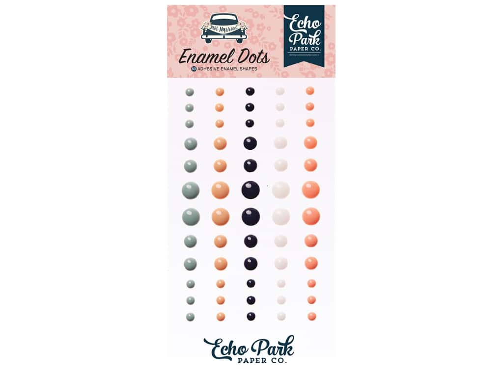 Echo Park Collection Just Married Enamel Dots