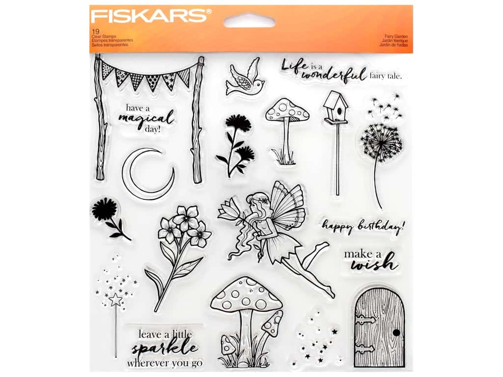 Fiskars Stamp Clear Fairy Garden