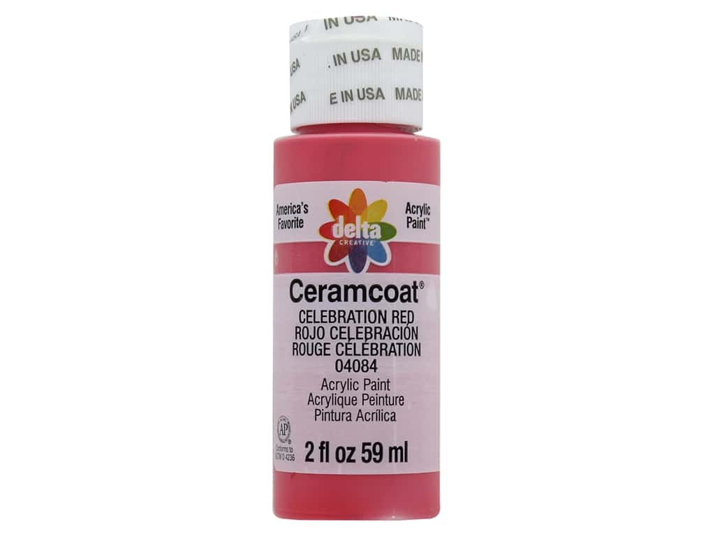 Delta Ceramcoat Acrylic Paint 2 oz. #04084 Celebration Red