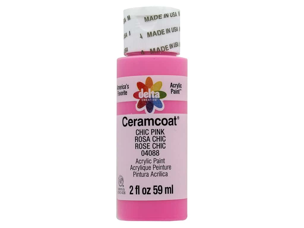 Delta Ceramcoat Acrylic Paint 2 oz. #4088 Chic Pink