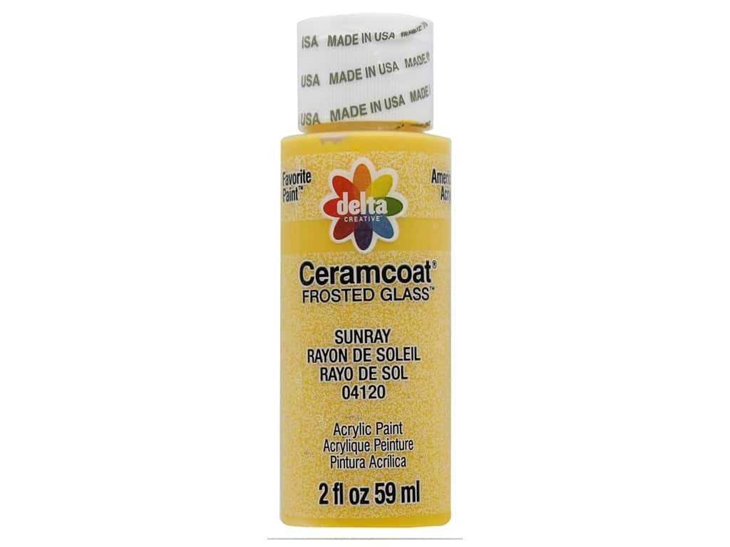 Delta Ceramcoat Acrylic Paint 2 oz. #4120 Frosted Glass Sunray