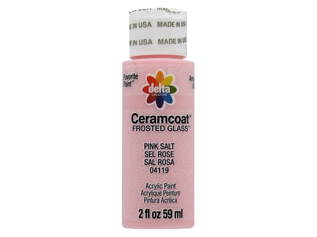 Delta Ceramcoat Acrylic Paint 2 oz. #4119 Frosted Glass Pink Salt
