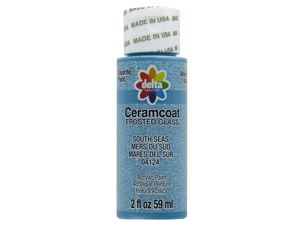 Delta Ceramcoat Acrylic Paint 2 oz. #4124 Frosted Glass South Seas