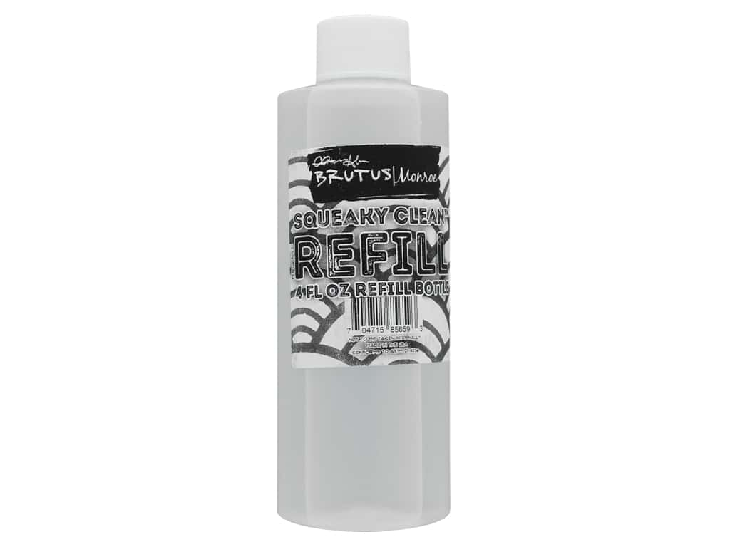 Brutus Monroe Squeaky Clean Stamp Cleaner Refill 4 oz