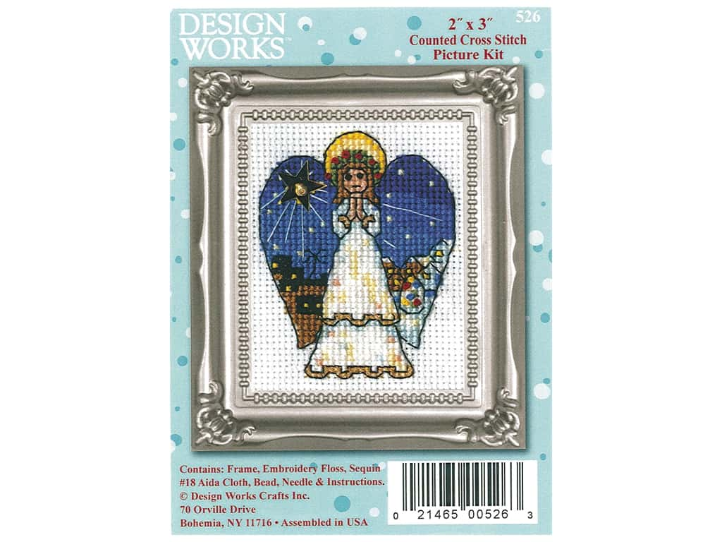 Design Works Counted Cross Stitch Kit 2 x 3 in. Angel