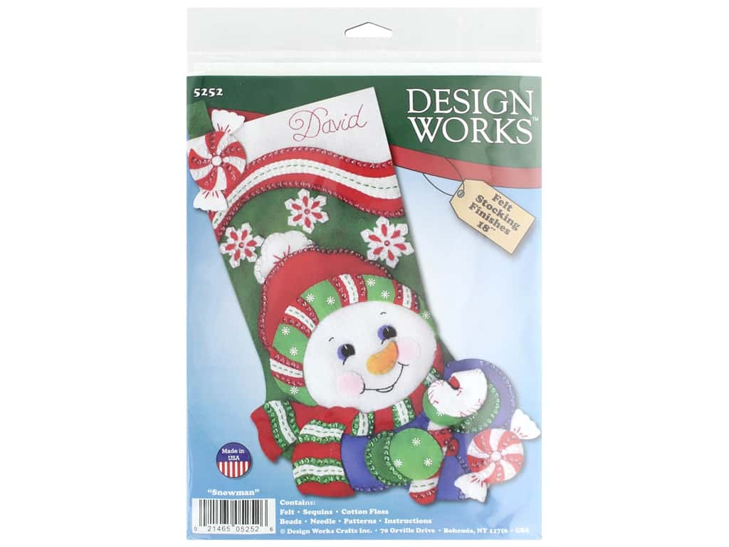 Design Works Kit 18 in. Felt Stocking Snowman