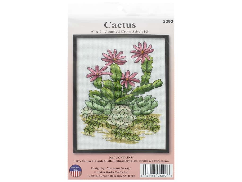 Design Works Counted Cross Stitch Kit 5 x 7 in. Cactus