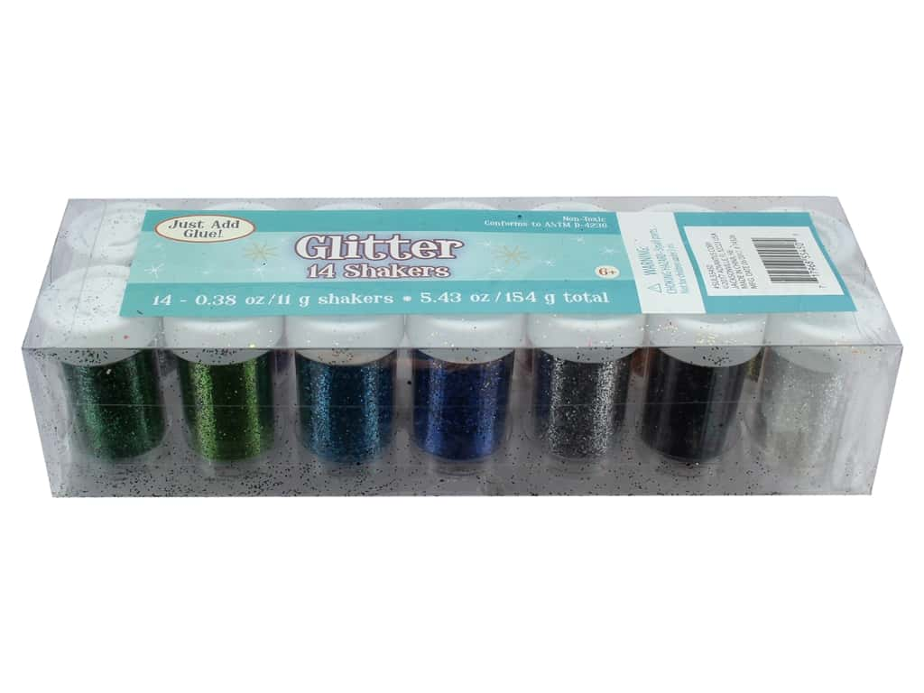 Sulyn Glitter Shakers Assorted 14 pc
