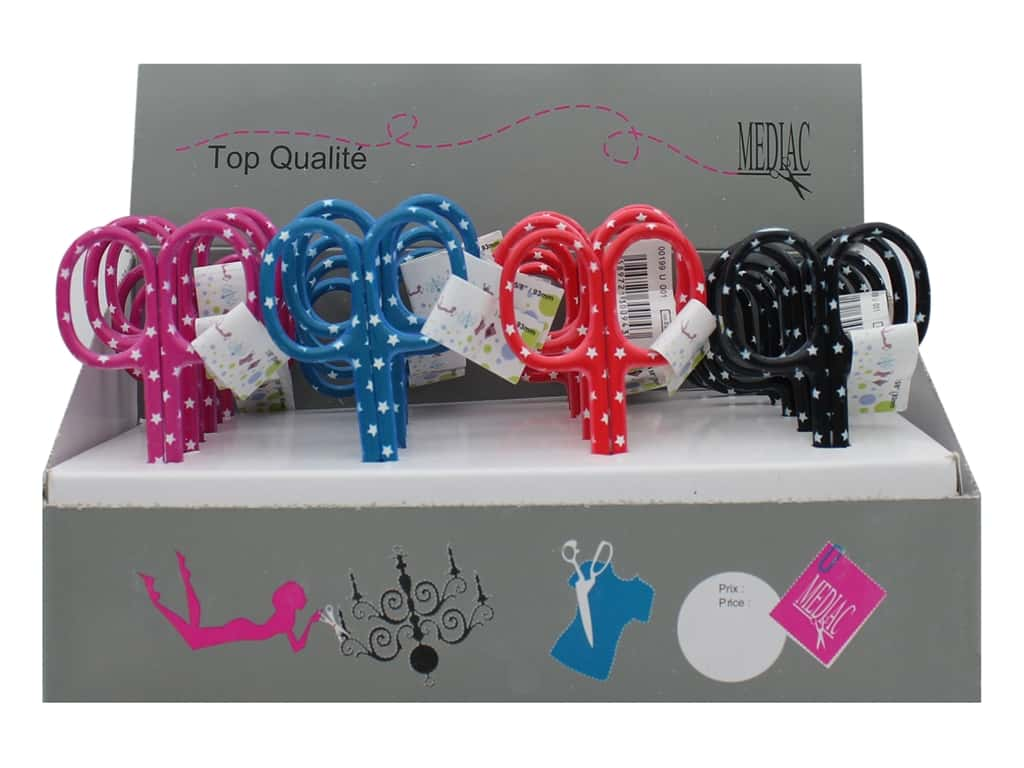 Mediac 3 1/2 in. Embroidery Scissors - Assorted Stars 24 pc. (24 pieces)