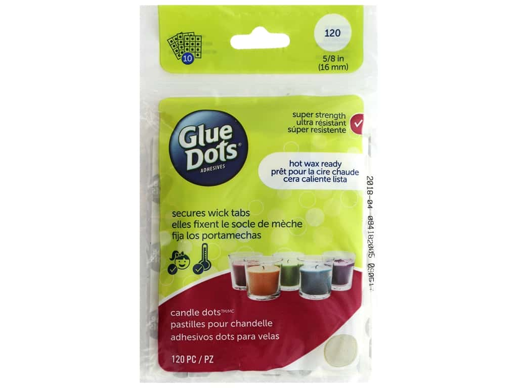 Glue Dots Candle 5/8 in. Sheet 120 pc