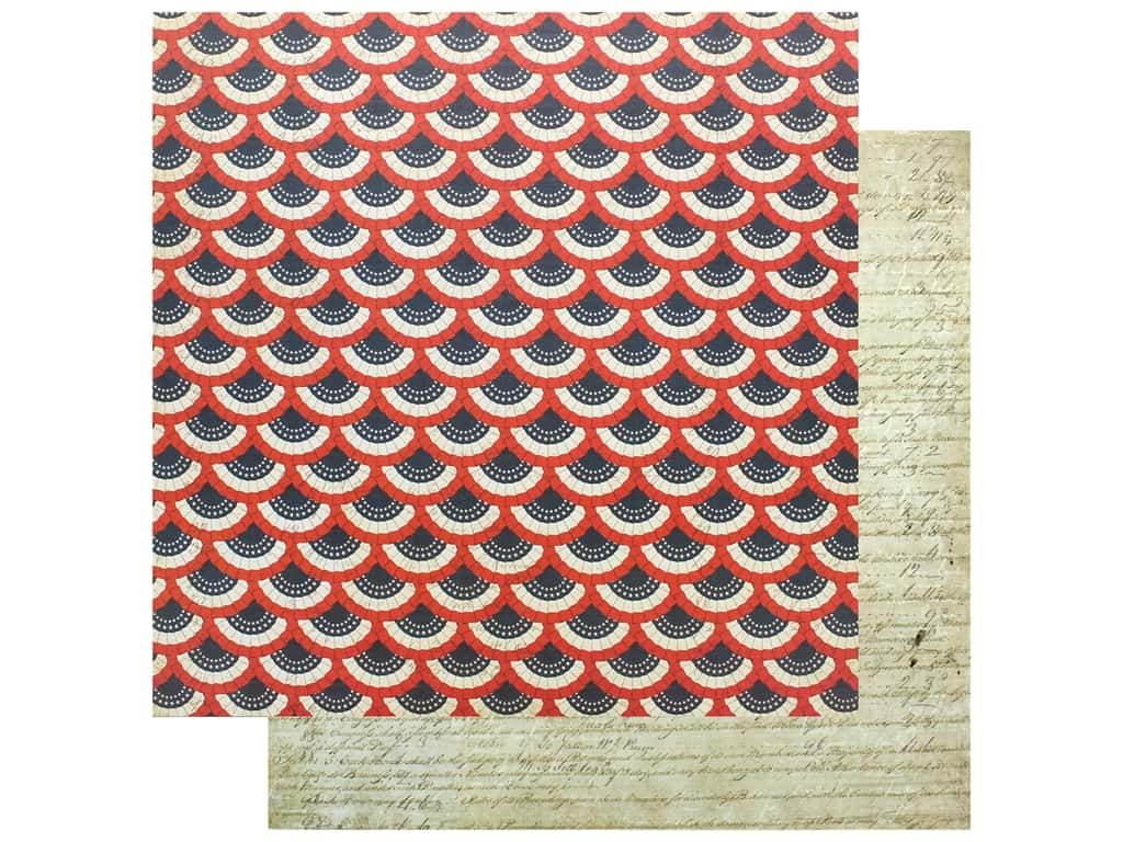 Photo Play Collection Red White Blue Paper 12 in. x 12 in. We The People (25 pieces)