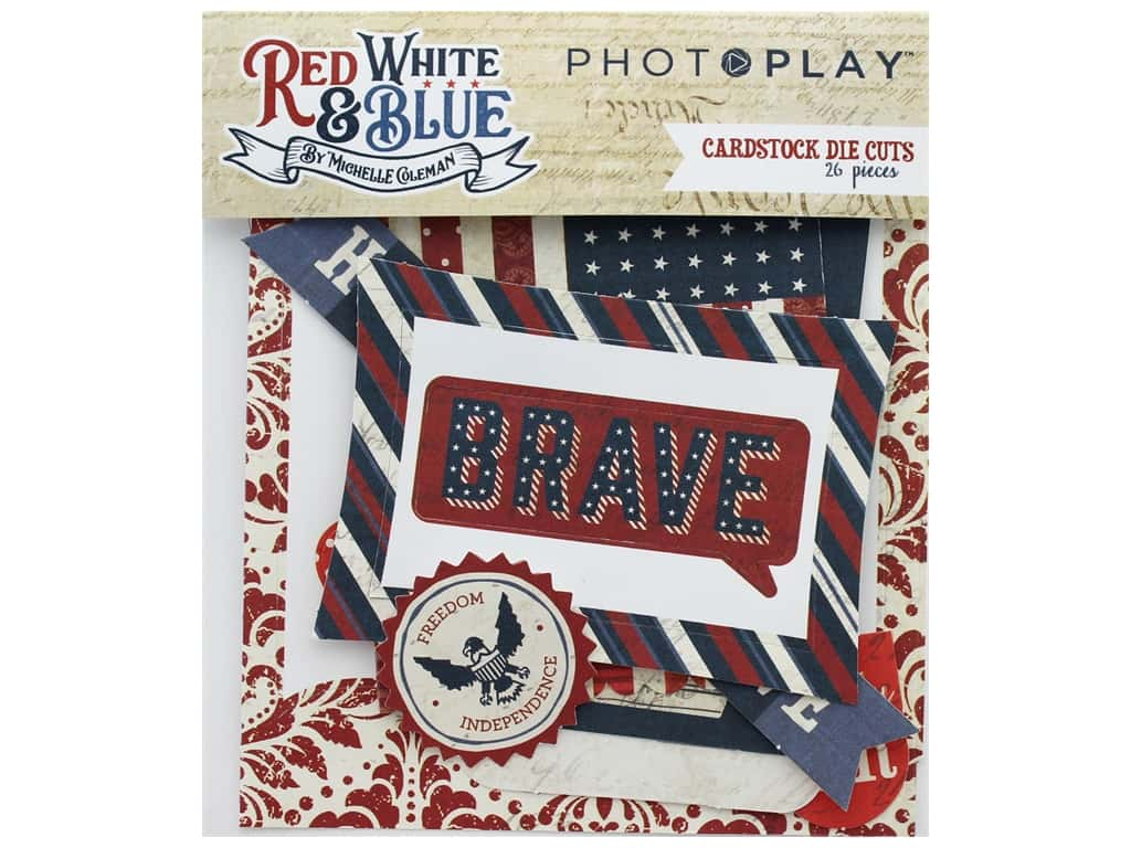 Photo Play Collection Red White Blue Die Cut Pack