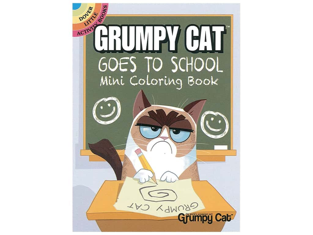 Dover Publications Little Grumpy Cat Goes To School Coloring Book