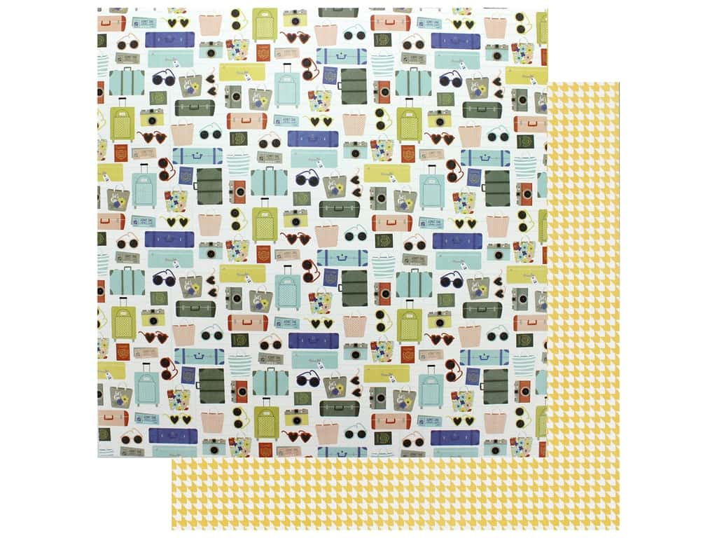 Photo Play 12 x 12 in. Paper Let's Go Check In (25 pieces)