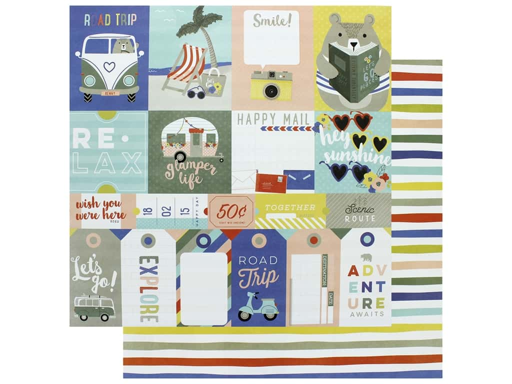Photo Play 12 x 12 in. Paper Let's Go Let's Go (25 pieces)