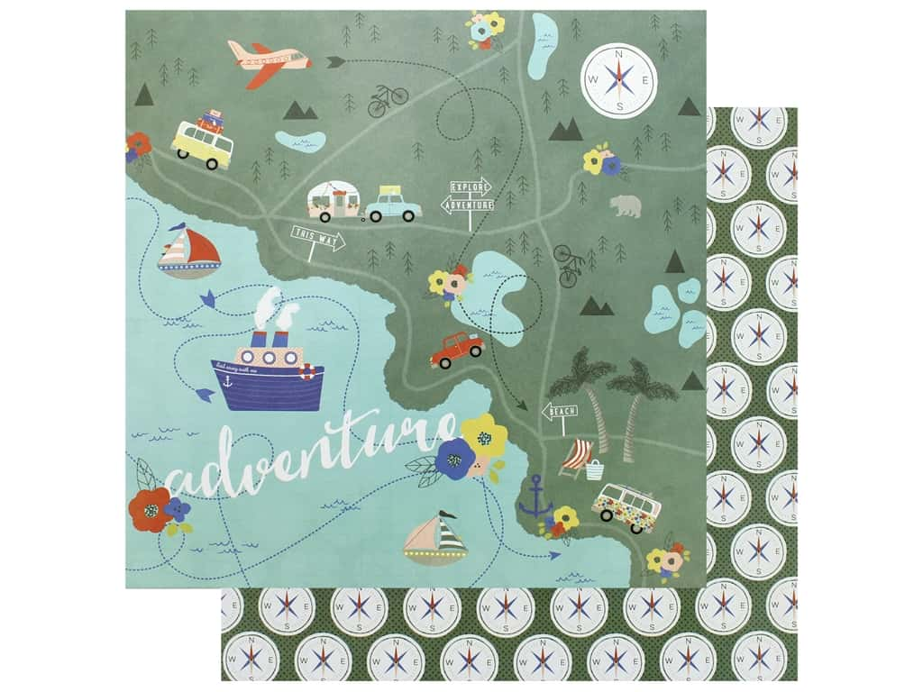 Photo Play Collection Lets Go Paper 12 in. x 12 in. Are We There Yet (25 pieces)
