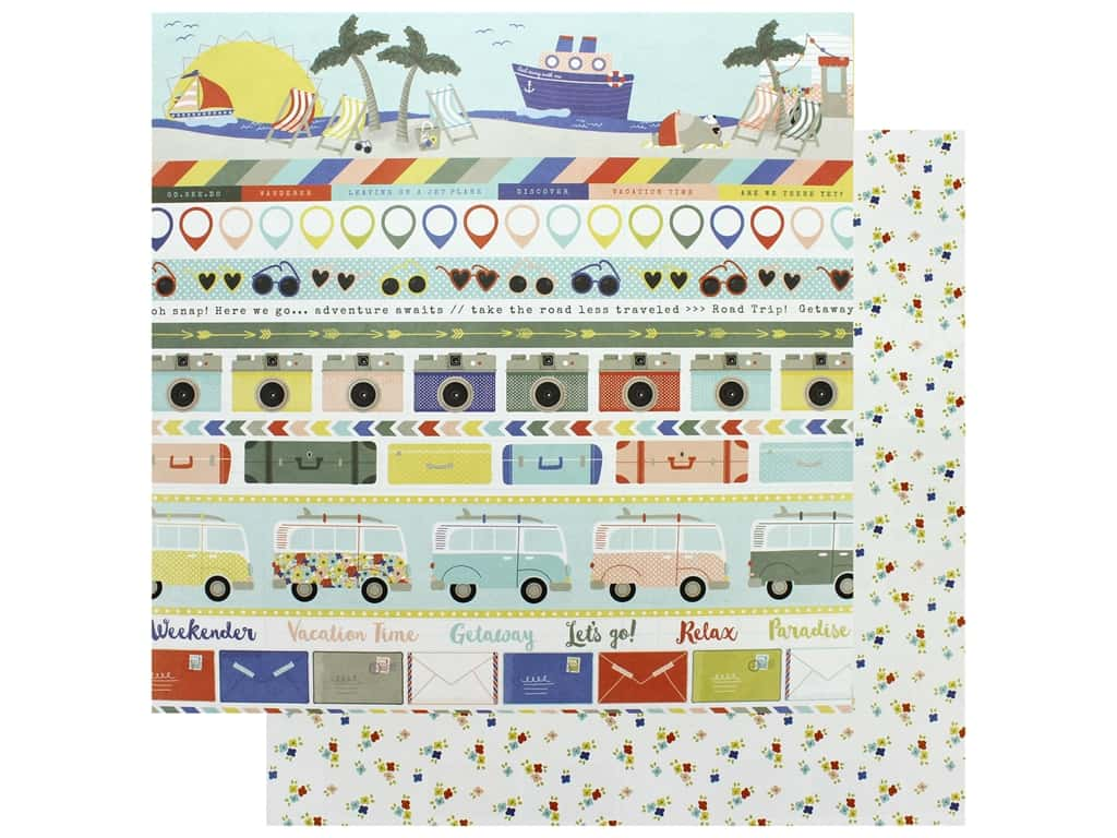 Photo Play Collection Lets Go Paper 12 in. x 12 in. Wish You Were Here (25 pieces)