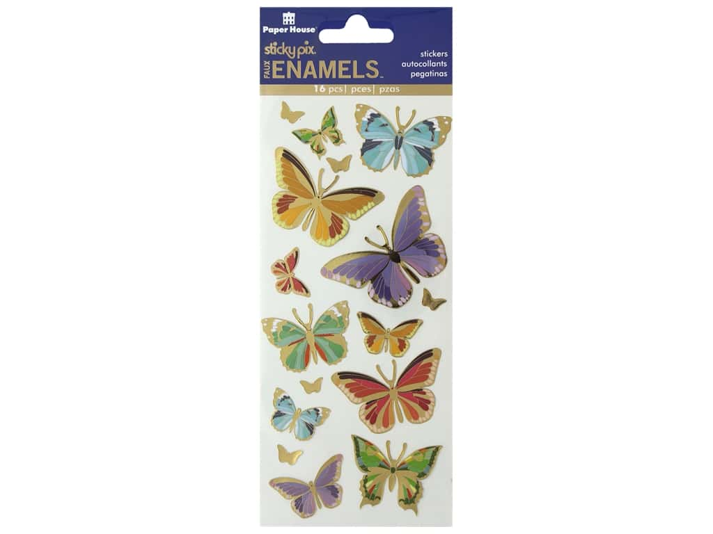 Paper House Faux Enamel Stickers - Butterflies