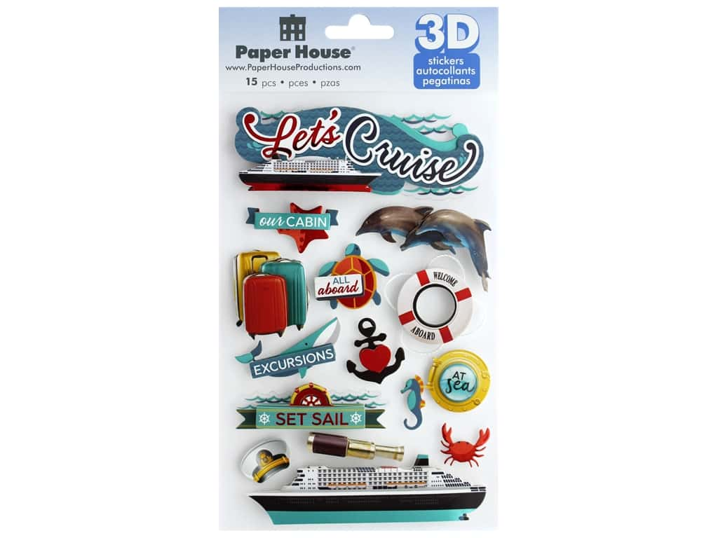 Paper House Sticker 3D Lets Cruise