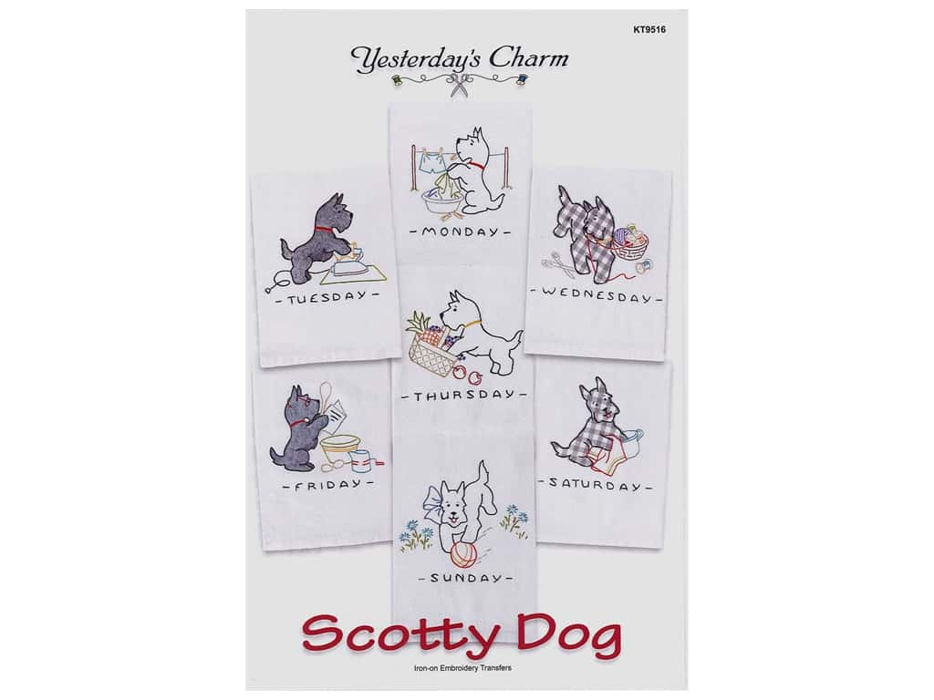 Yesterday's Charm Scottie Dog Iron On Pattern