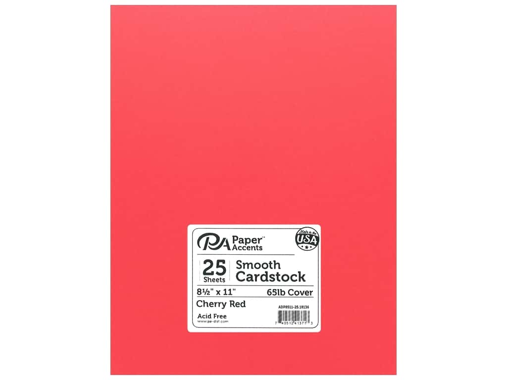 Paper Accents Cardstock 8 1/2 x 11 in. #18136 Smooth Cherry Red 25 pc.