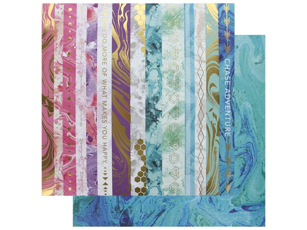 Paper House Paper 12 in. x 12 in. Marbleous Border (15 pieces)