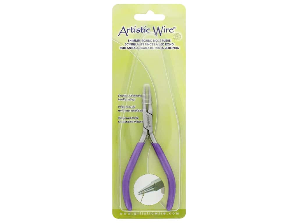 Artistic Wire Shimmer Round Nose Pliers