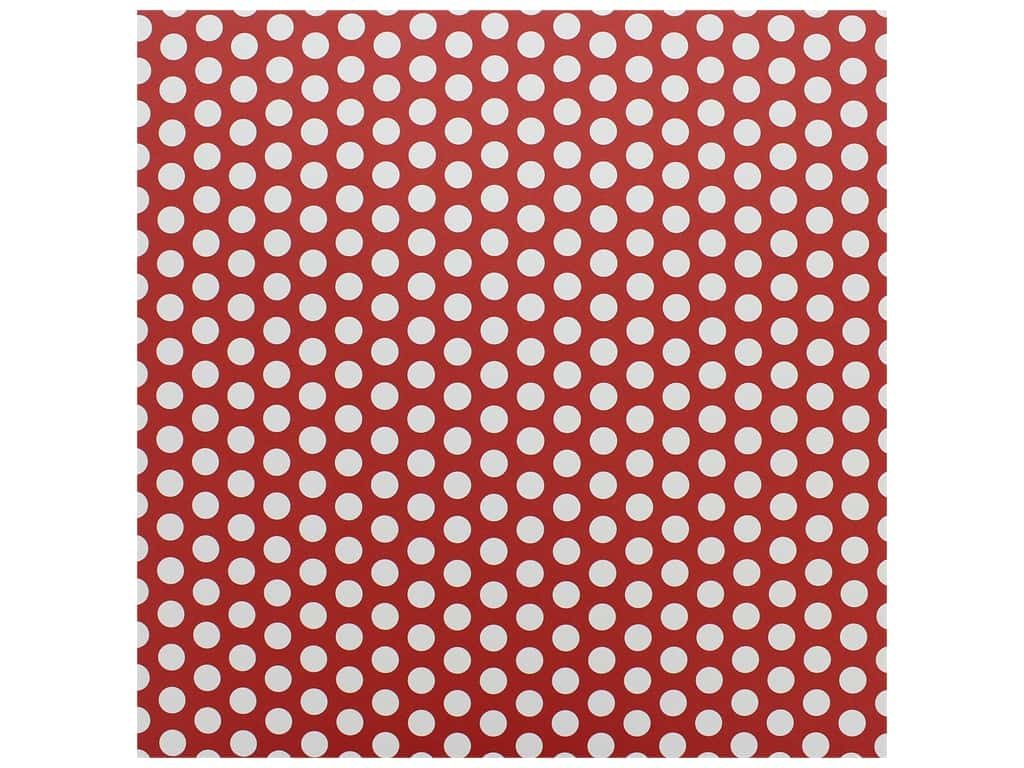 Canvas Corp Paper 12 in. x 12 in. Red & White Dot Reverse (15 pieces)