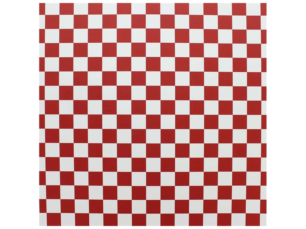 """Canvas Corp Paper 12""""x 12"""" Red & White Big Check (15 pieces)"""