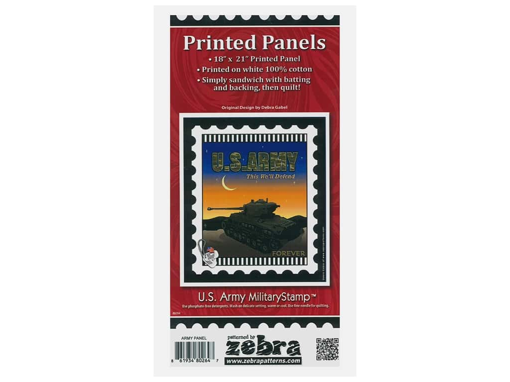Zebra Patterns Printed Panel 18 in. x 21 in. Stamp Army