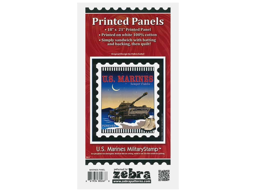 Zebra Patterns Printed Panel 18 in. x 21 in. Stamp Marines