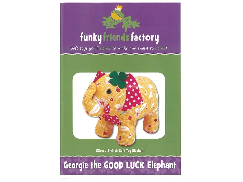 Funky Friends Factory Georgie The Good Luck Elephant Pattern