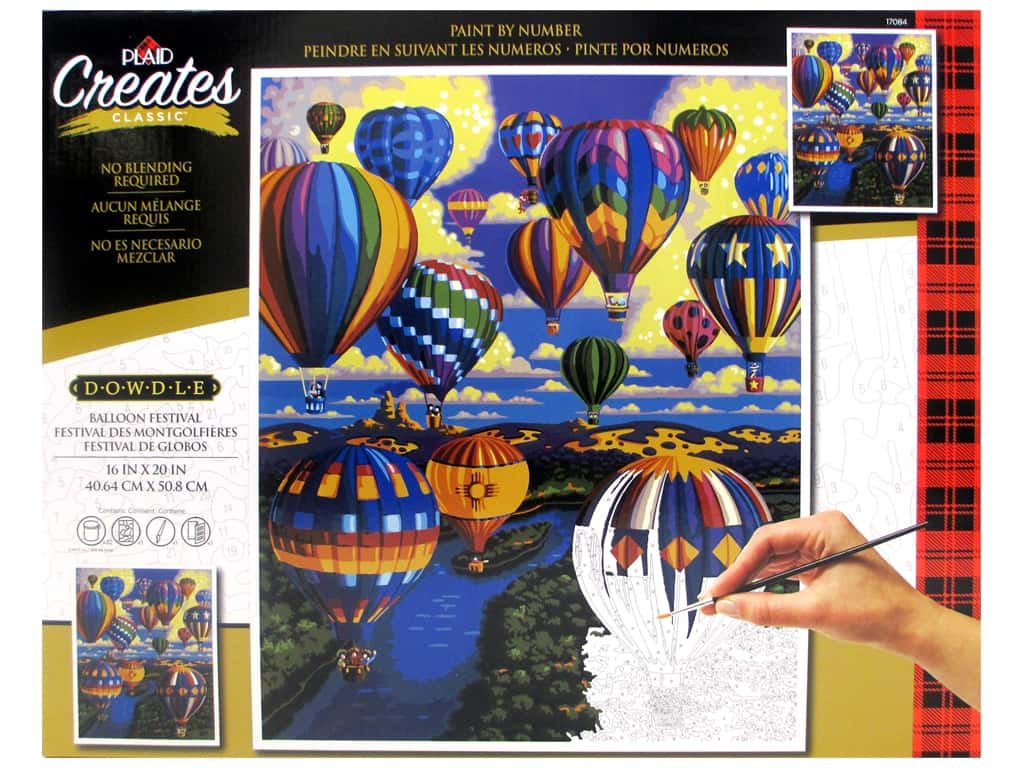Plaid Paint By Number 16 in. x 20 in. Balloon Festival