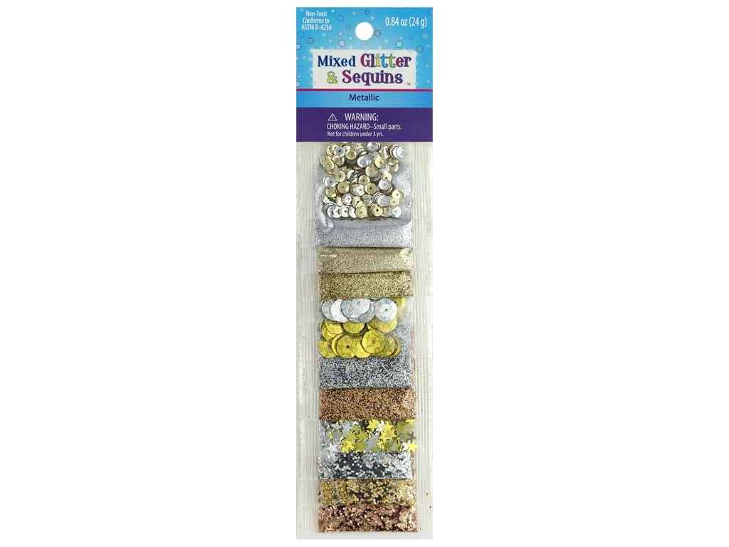 Sulyn Glitter Sample Pack Mix Sequins Metallic 11 pc