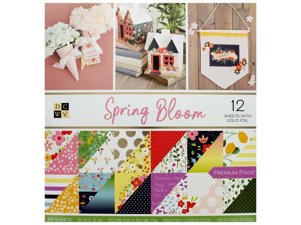 Die Cuts with a View 12 x 12 in. Paper Stack Spring Bloom