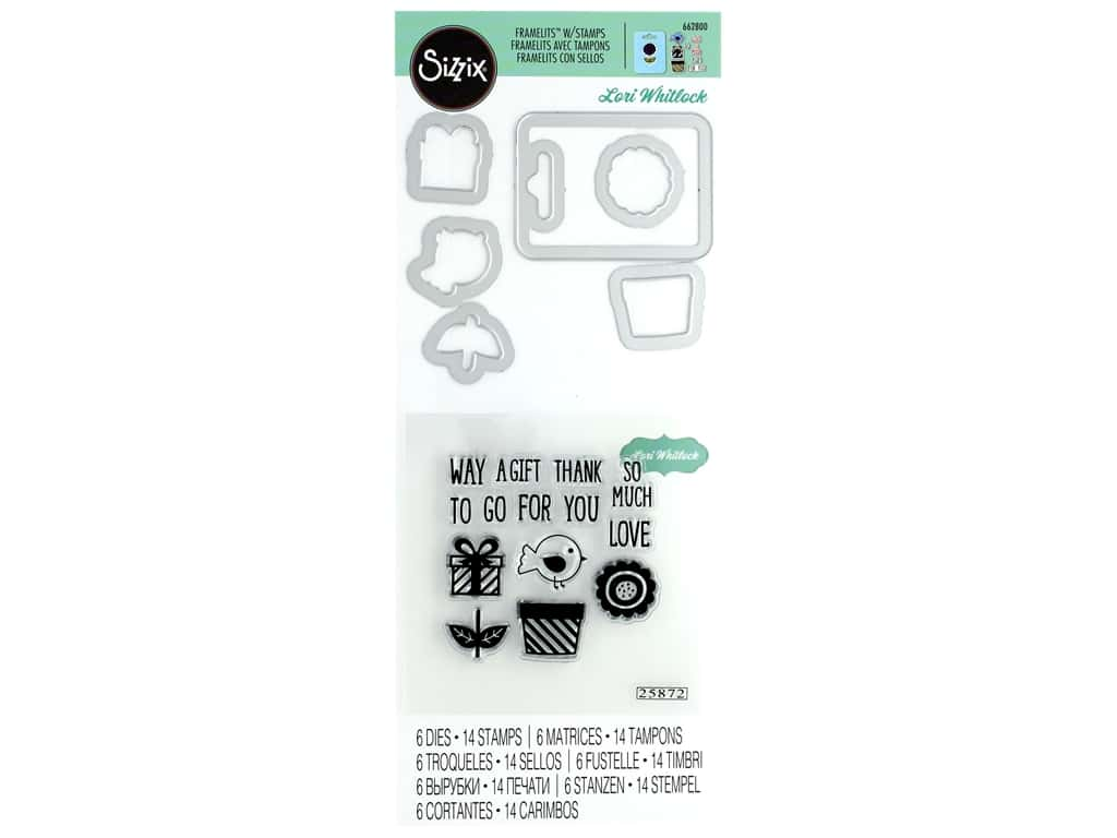 Sizzix Die & Stamp Lori Whitlock Framelits Tag Gift For You