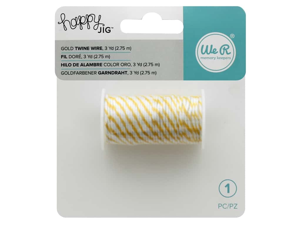 We R Memory Tools Happy Jig Bakers Twine Wire Gold 3 yd