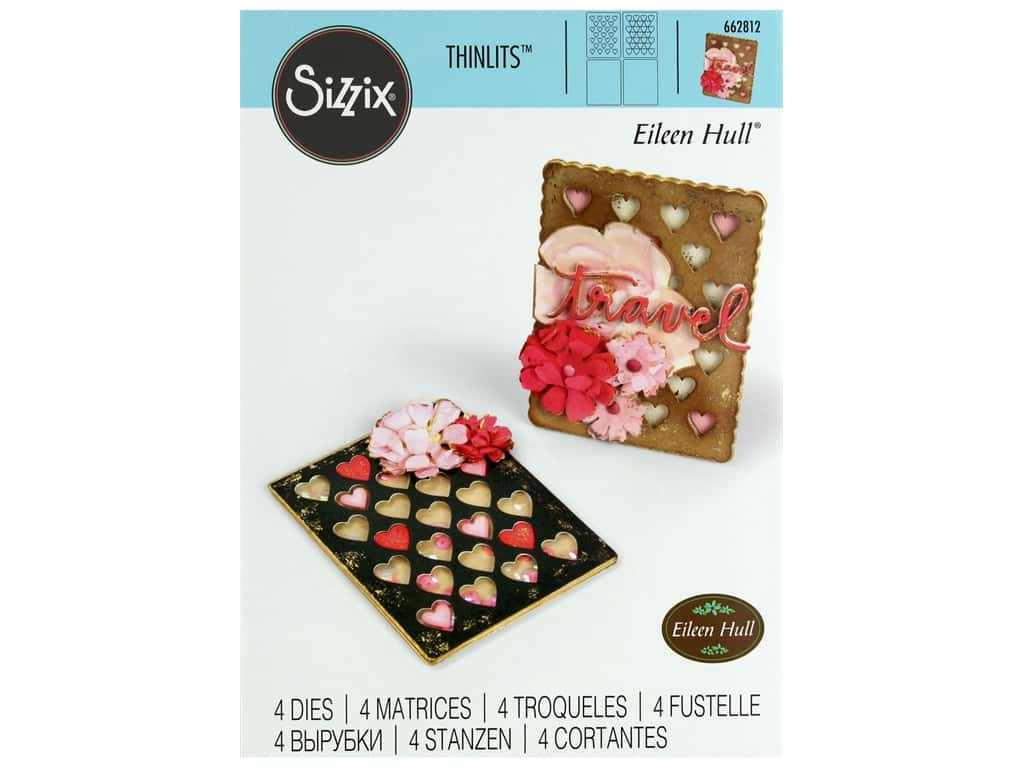 Sizzix Dies Eileen Hull Thinlits Card Hearts