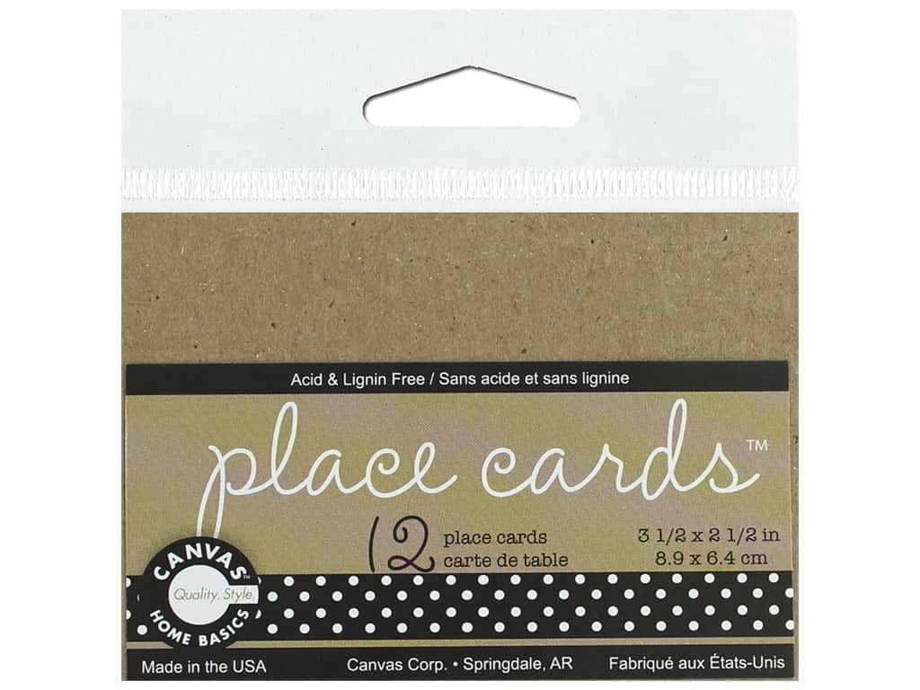 Canvas Corp Place Cards 12 pc Kraft (3 pieces)
