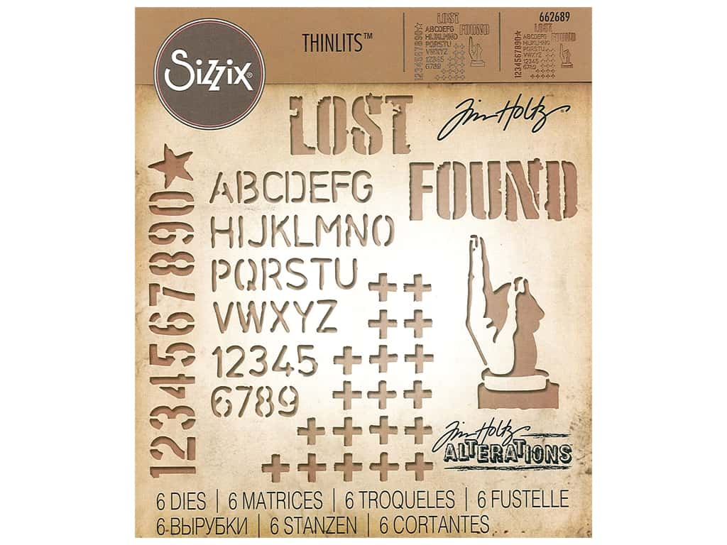 Sizzix Tim Holtz Thinlits Die Set 6 pc. Mixed Media #6