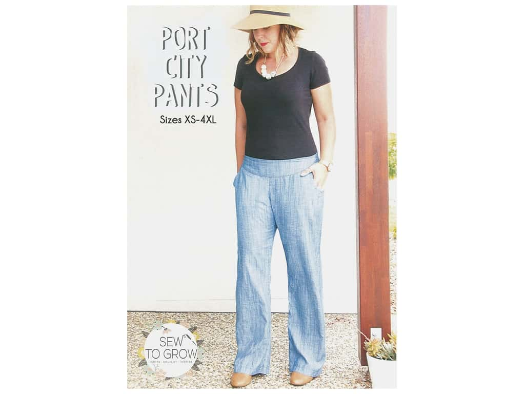 Sew To Grow Port City Pants XS-4XL Pattern