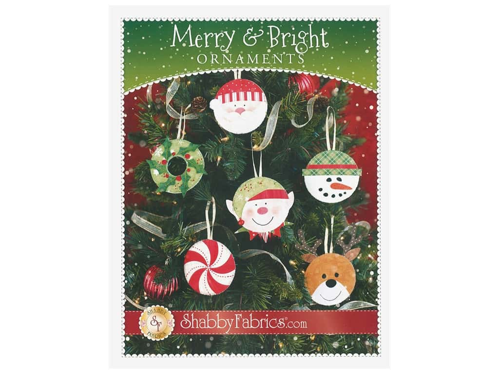 Shabby Fabrics Merry & Bright Ornaments Pattern