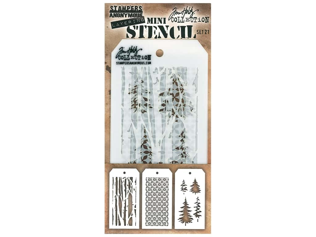 Stampers Anonymous Tim Holtz Layering Mini Stencil Set #21