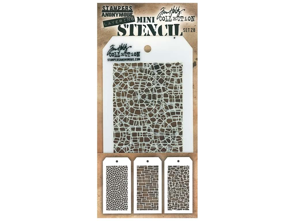 Stampers Anonymous Layering Stencil Tim Holtz Mini #28