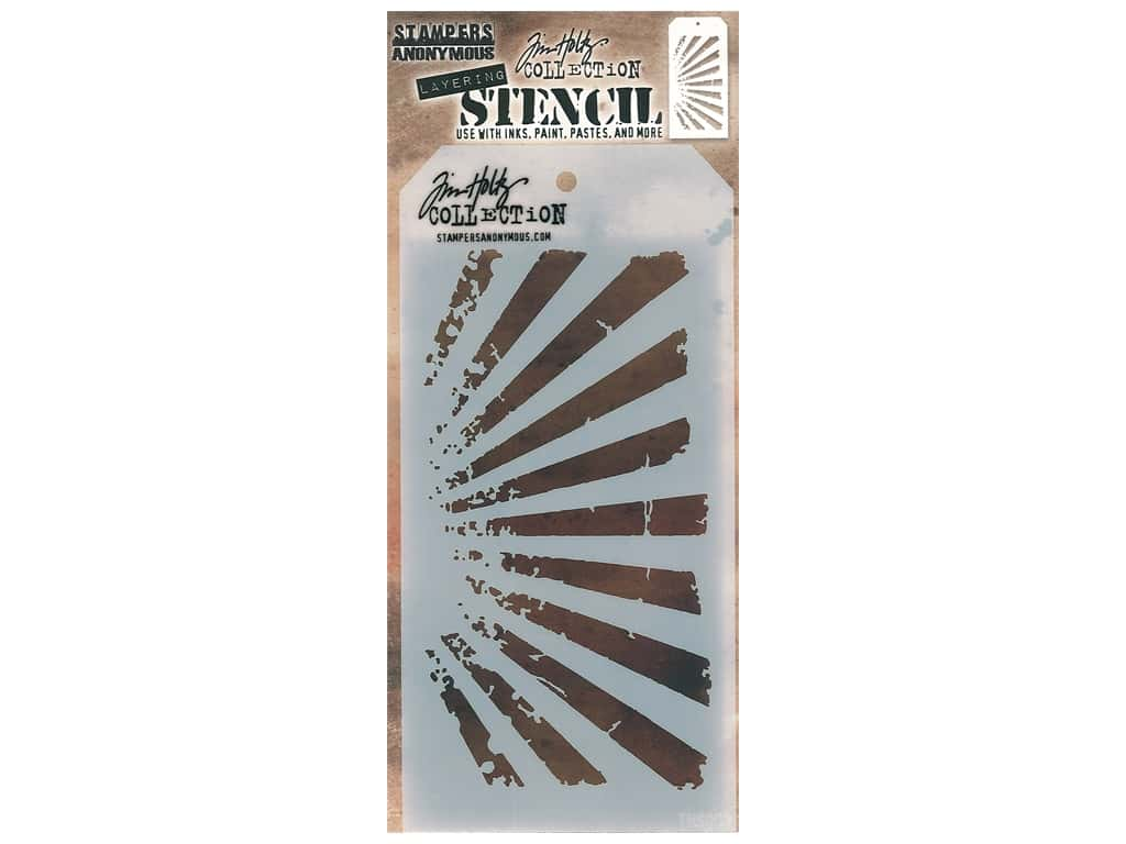 Stampers Anonymous Tim Holtz Layering Stencil - Rays