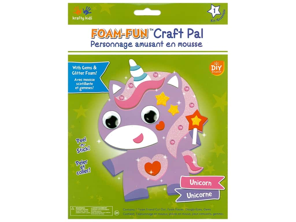 Multicraft Krafty Kids DIY Kit Foam Pal Unicorn