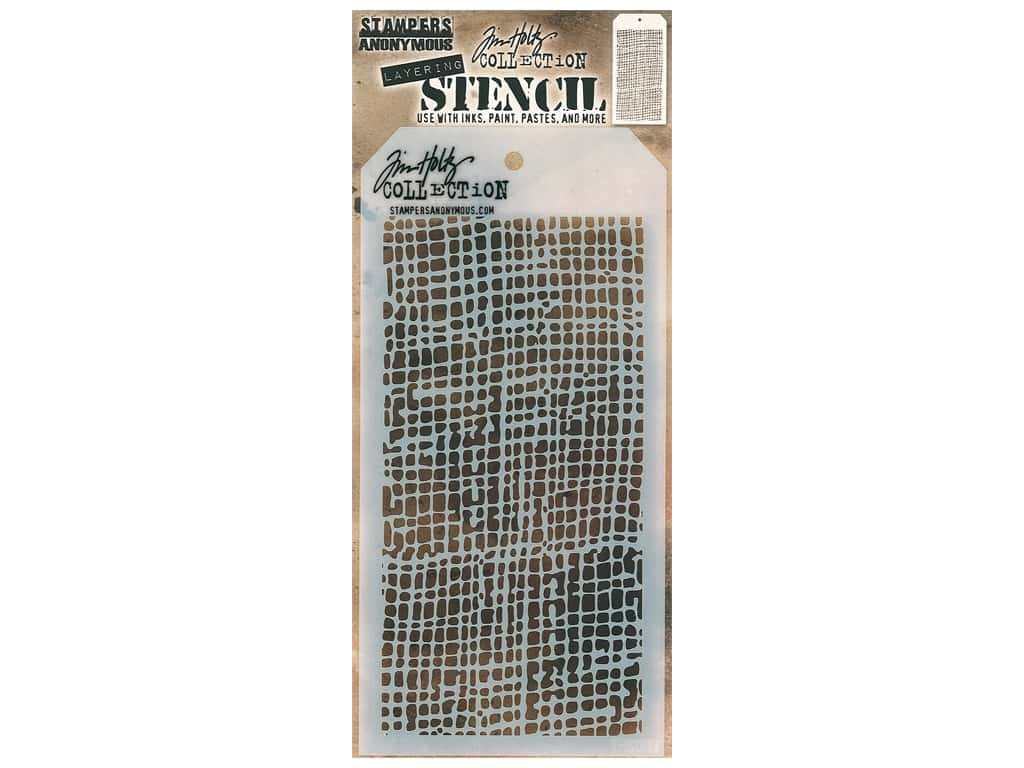 Stampers Anonymous Layering Stencil Tim Holtz Burlap