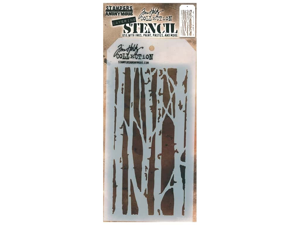 Stampers Anonymous Tim Holtz Layering Stencil - Birch