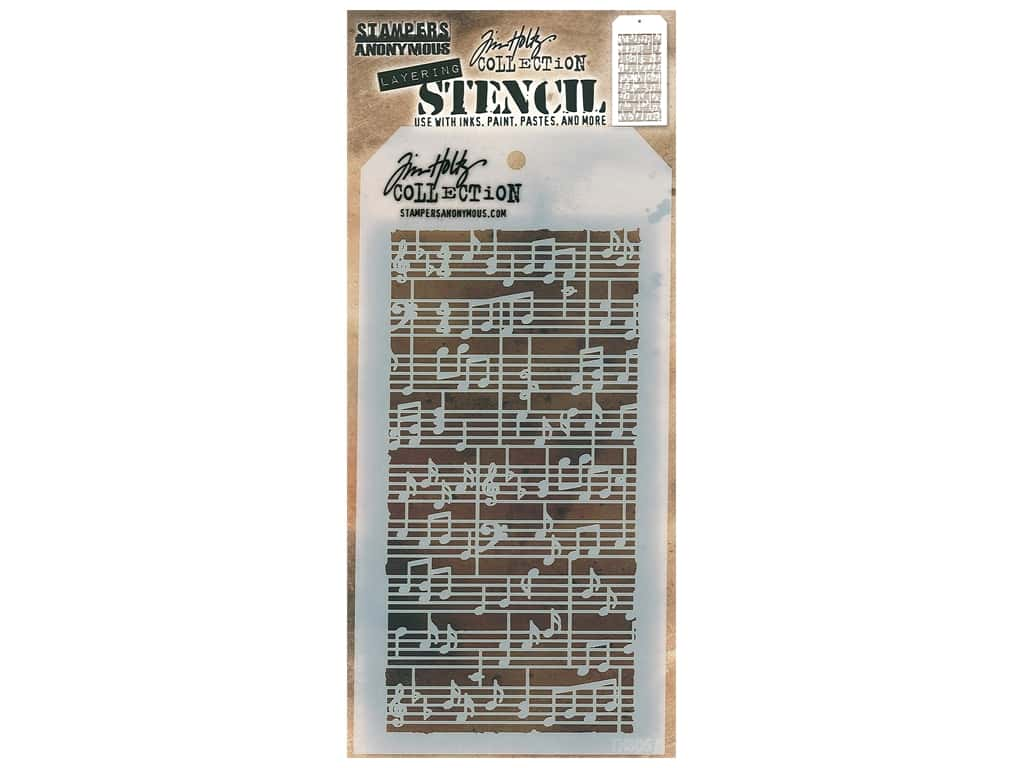 Stampers Anonymous Tim Holtz Layering Stencil - Concerto